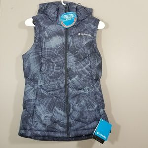 NEW Columbia pike lake hooded vest Size XS womens
